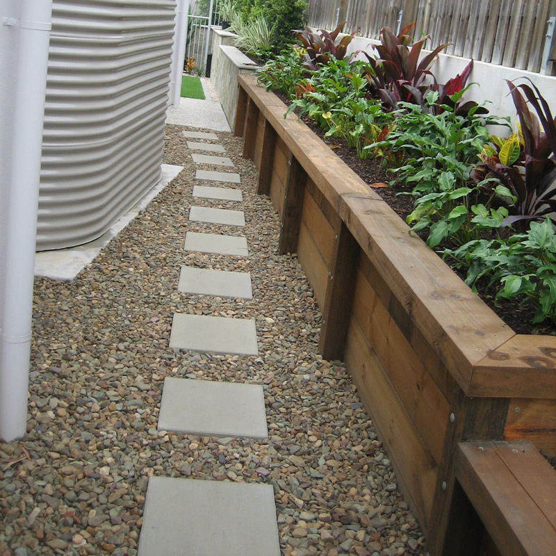 Stepping Stone Pavers with Mary River Pebbles