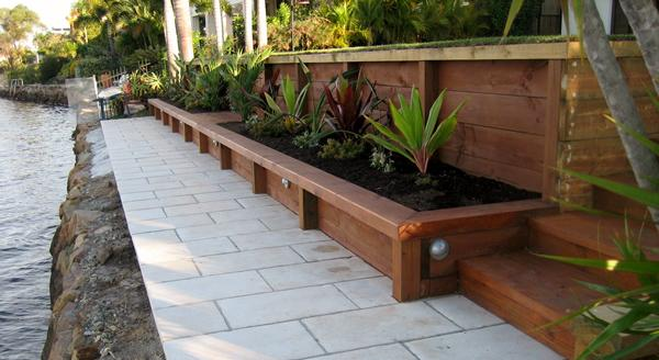 Treated Pine Timber Retaining Wall