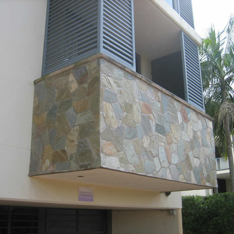 Stone feature external cladding