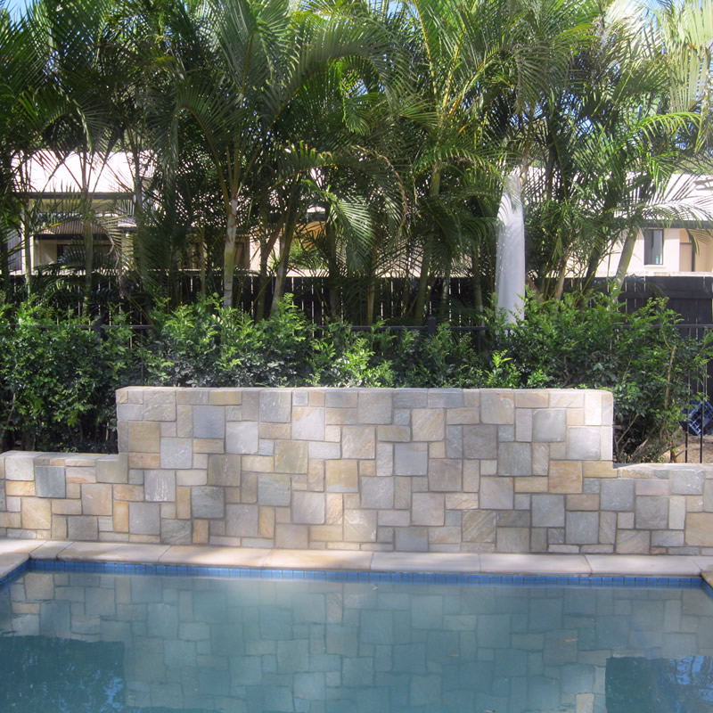 Swimming Pool stone feature