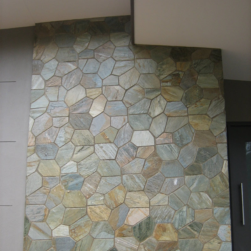 Entrance stone feature wall