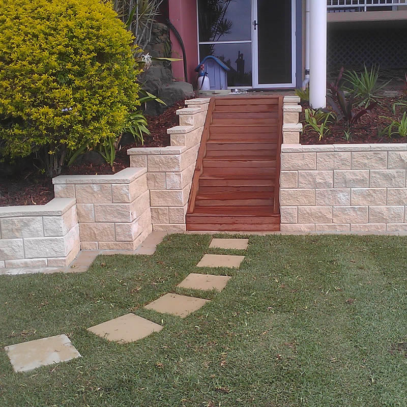 Outdoor timber steps