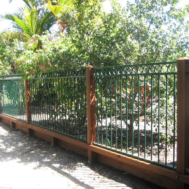 Metal and timber fencing