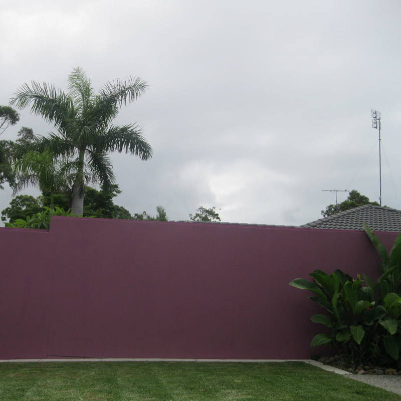 Rendered fence